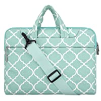 """Mosiso Quatrefoil Style Fabric Laptop Sleeve Case Cover Bag with Shoulder Strap 11-11.6"""" Hot Blue"""