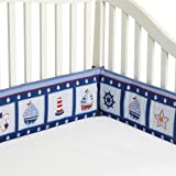 Bedtime Originals Sail Away Bumper, Blue (Discontinued by Manufacturer)