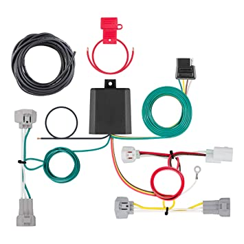 curt 56349 vehicle side custom 4 pin trailer wiring harness for select toyota tacoma 2005 Toyota Tacoma Trailer Wiring Harness