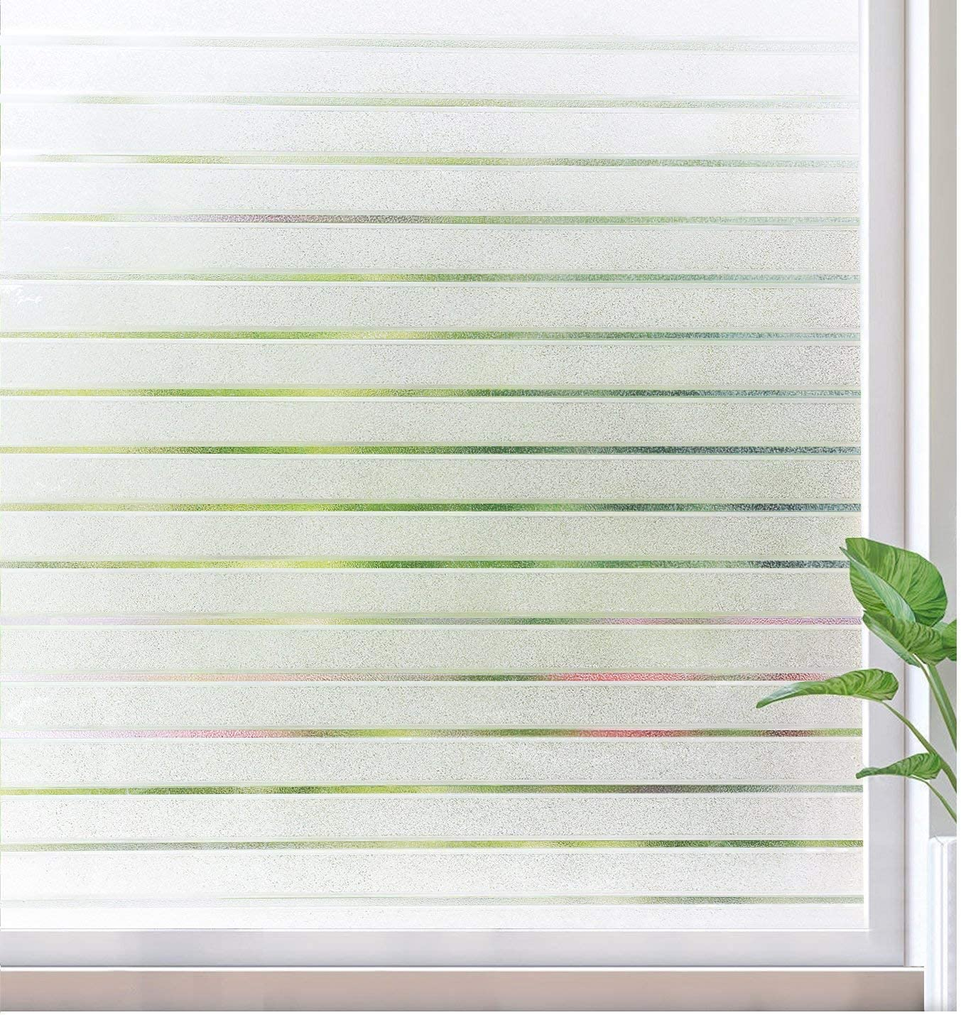 Matte White, 17.5 x 78.7 Privacy Window Film No Glue Frosted Glass Sticker for Home Office Static Anti-UV Window Paper Decorative Window Covering for Bathroom