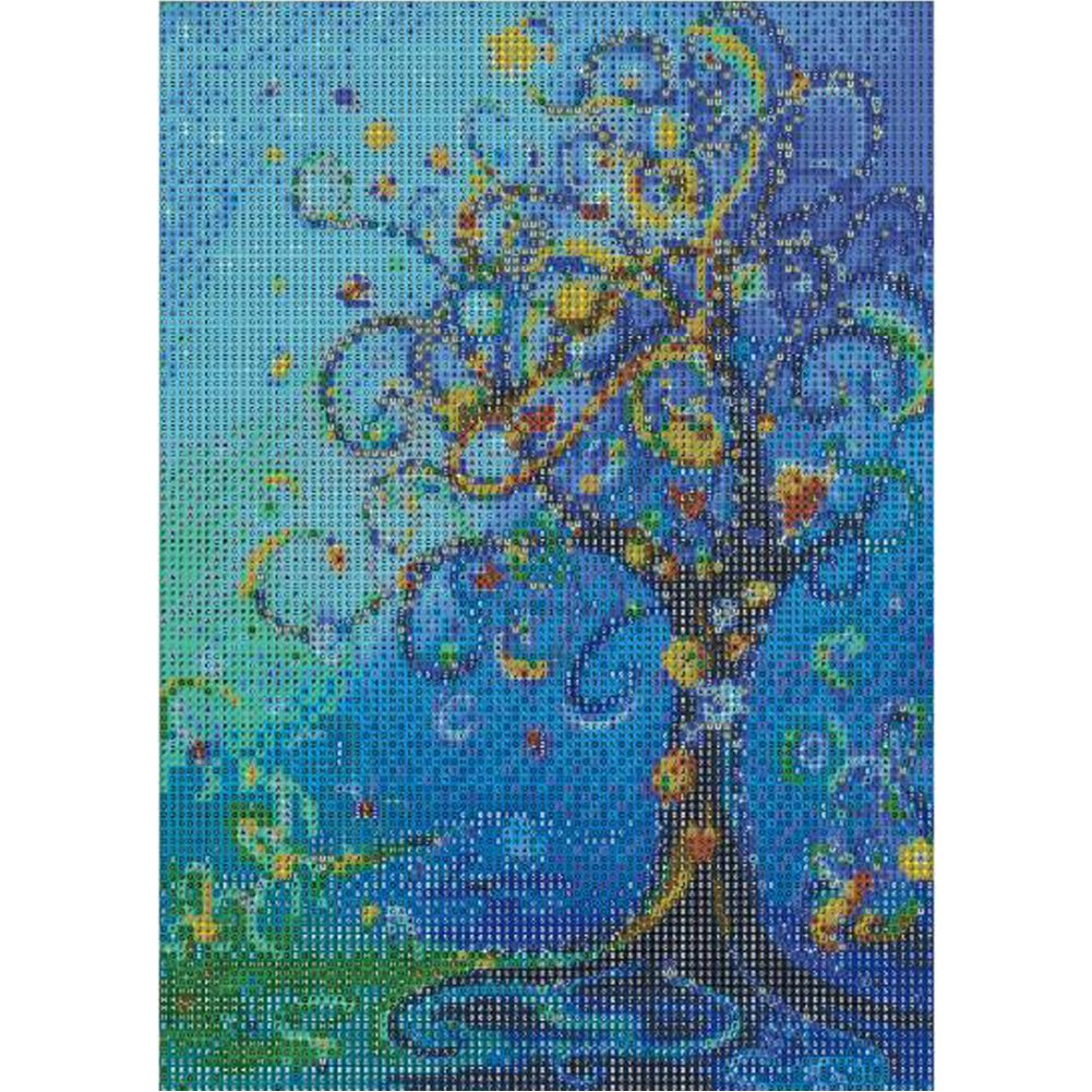 MXJSUA DIY 5D Diamond Painting by Number Kits Full Drill Rhinestone Embroidery Cross Stitch Pictures Arts Craft for Home Wall Decor,Money Tree 12x16in