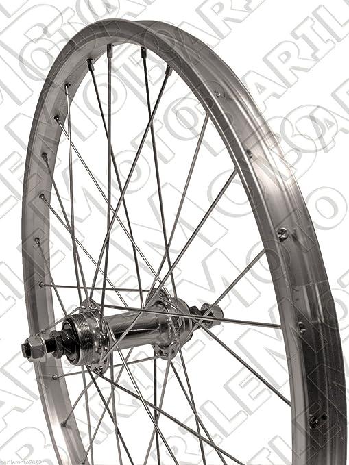 Ruota Cerchio Posteriore Bici Graziella Mtb 20 X 175 Alluminio 1 Velocita