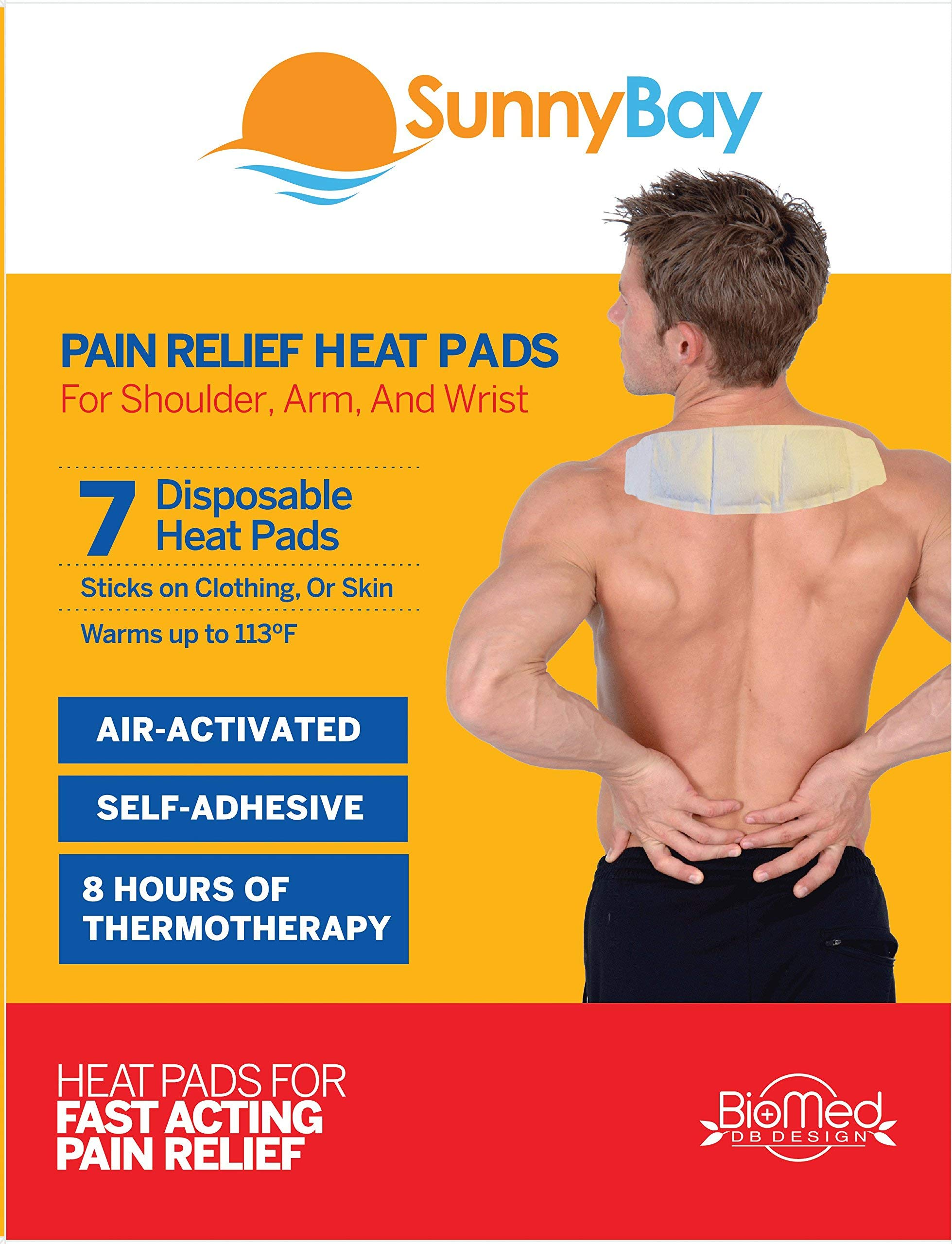 Sunny Bay Adhesive Heat, Pads, White, Pain Relief, 13 Ounce by Sunny Bay (Image #1)