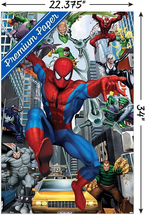 Amazon Com Trends International Marvel Comics Spider Man Rogues Wall Poster 22 375 X 34 Premium Unframed Version Home Kitchen