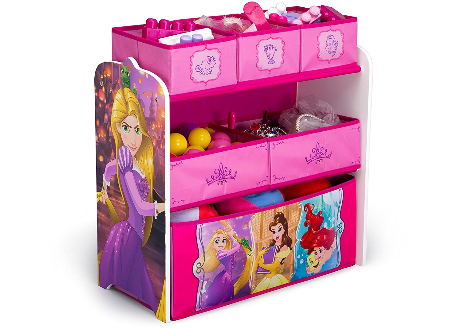 76ae2433e1051 Delta Children Disney Princess Multi-Bin Toy Organizer  Amazon.co.uk  Baby