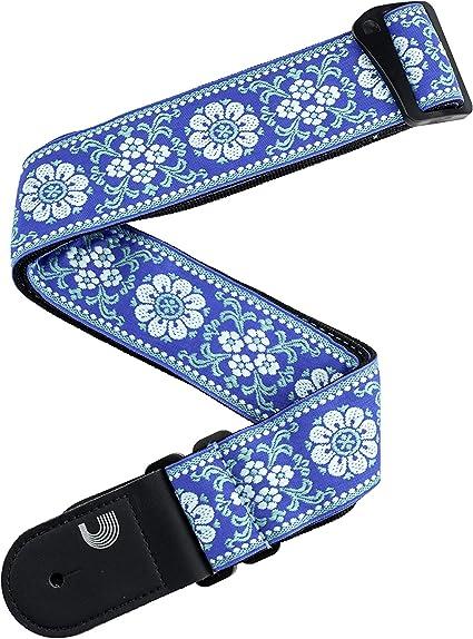 DAddario - Correa para guitarra tejida, diseño de paz, color ...
