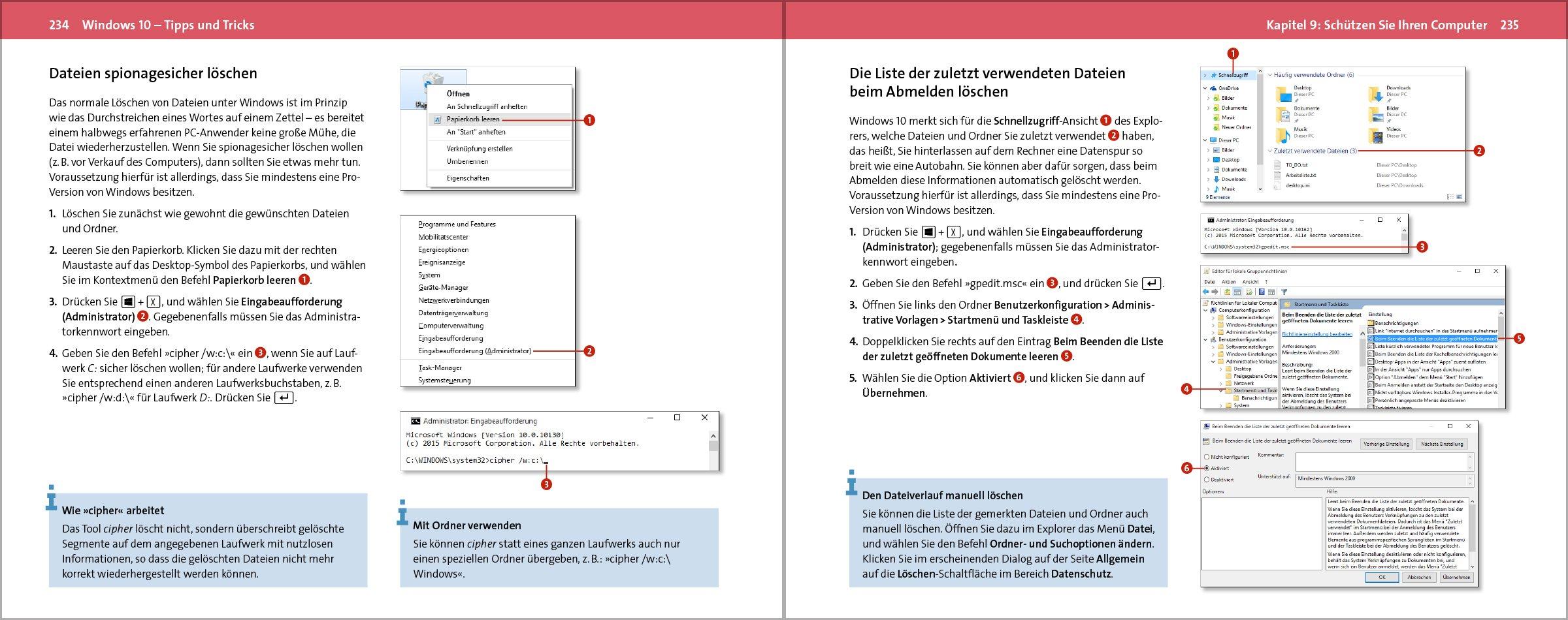 Windows 10 Tipps und Tricks: 9783842101784: Amazon.com: Books