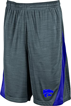 Champion NCAA Kansas State Wildcats Mens Boosted Stripe Color Blocked Training Shorts Gray Large