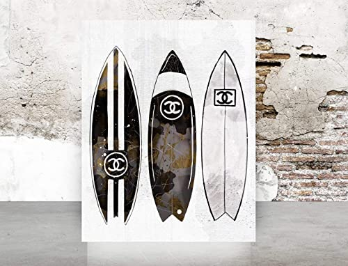 Wall Art Poster Print Glam Designer Fashion Home Decor Surfboards