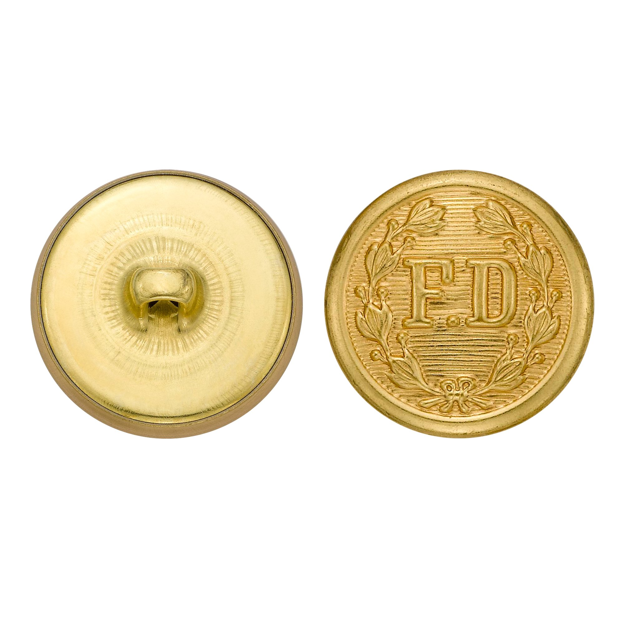 C&C Metal Products 5259 Fire Department Metal Button, Size 36 Ligne, Gold, 36-Pack