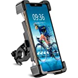 Bike Phone Mount, TEUMI Detachable 360° Rotate Motorcycle Phone Mount, Handlebar Bicycle Phone Holder Compatible with 12…