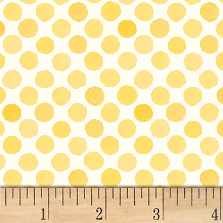 """RJR Fashion Quilt Fabrics """"Lori's Art Garden Garden Dots"""" Quilt Fabric, Yellow"""