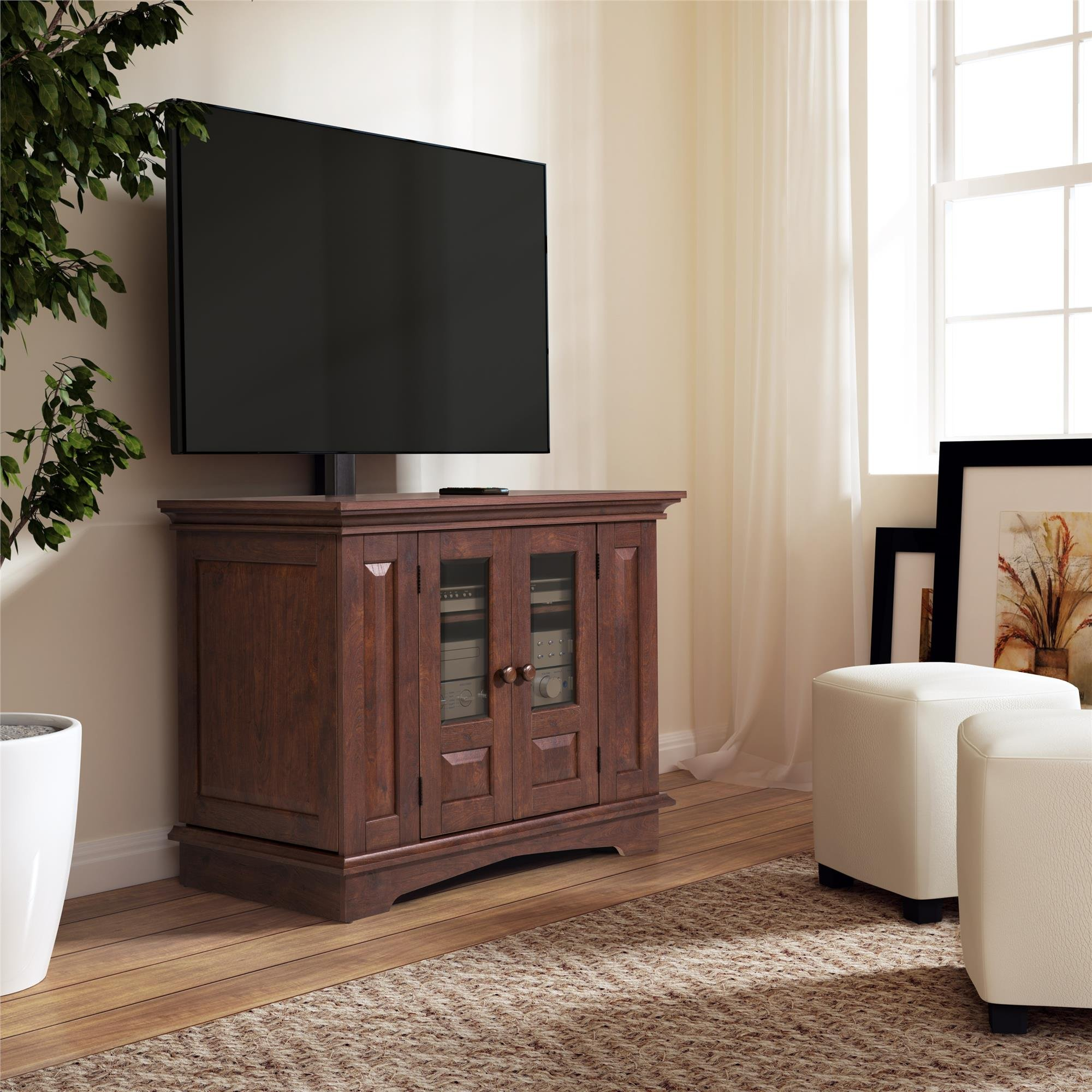 Altra Furniture 37'' TV Stand with Mount, Coach Cherry