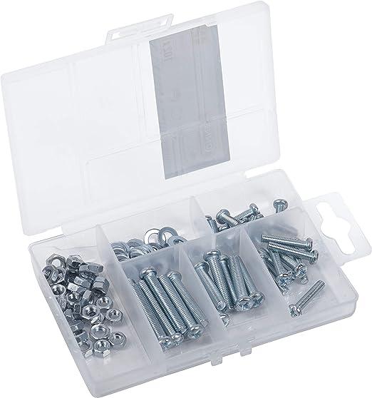 varios tama/ños Connex DP8500103 cabeza de lentejuelas PH juego de tornillos 102 piezas caja surtida rosca completa Surtido de tornillos de rosca incluye tuercas y arandelas