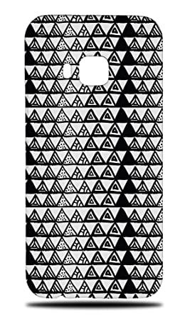 Amazon.com: Hand Drawn Triangle Pattern 33 Hard Phone Case ...