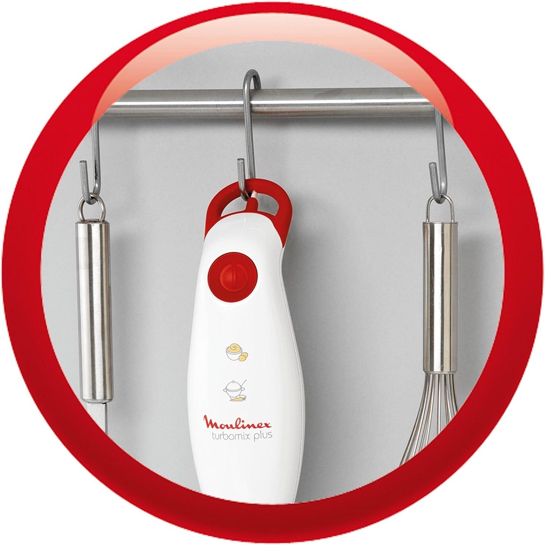 350 W Pl/ástico Blanco Moulinex Turbomix Plus DD100141 Batidora Rojo