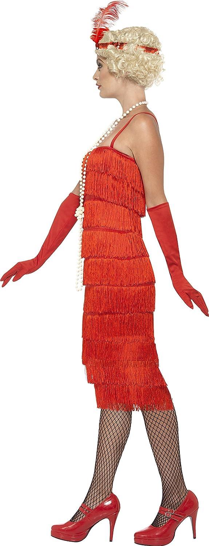 talla S Smiffys flapper para mujeres realmente divertido 45501 deslumbrante vestido largo con diadema y guantes de los a/ños 20
