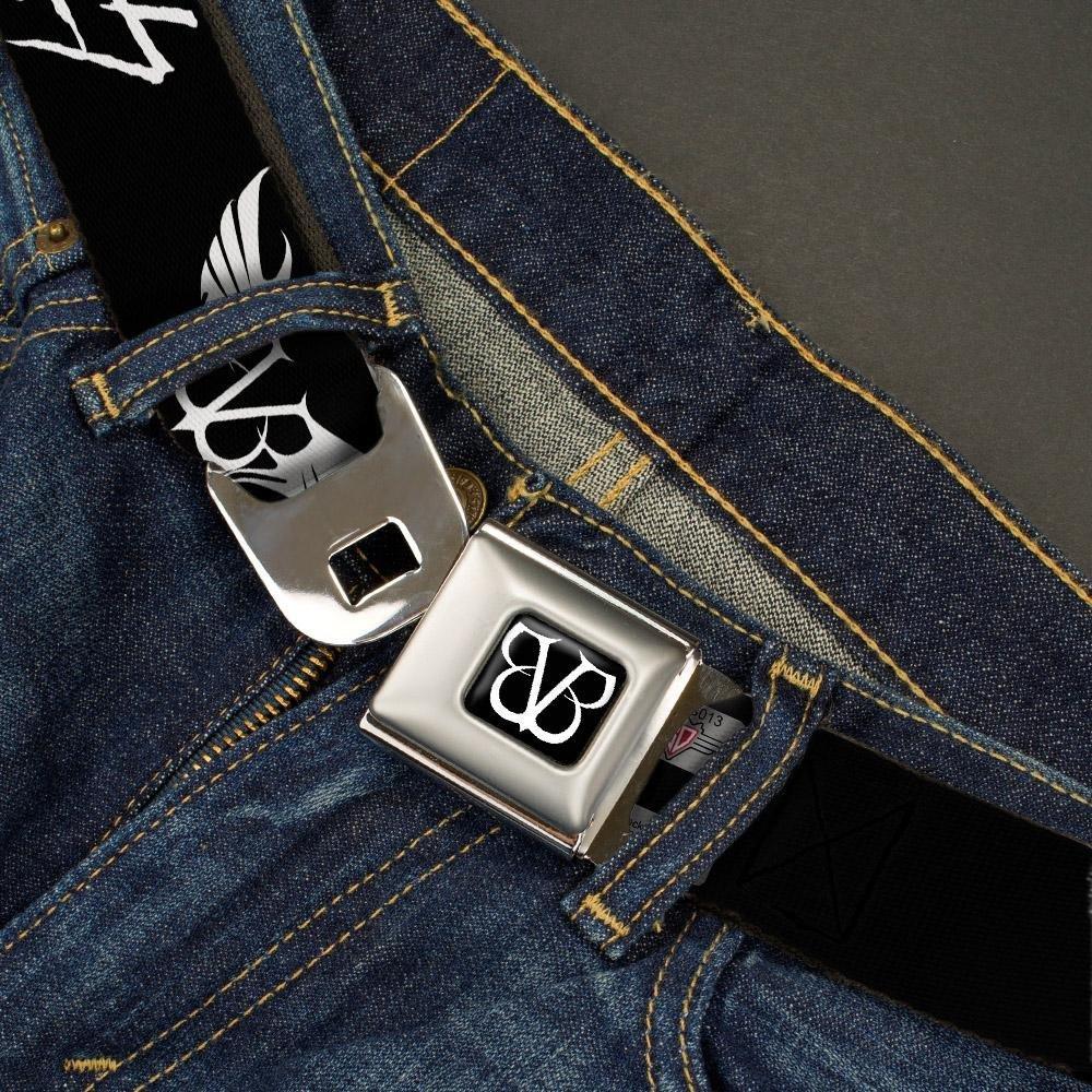 1.5 Wide-32-52 Inches BVB Logo//Rebels White Buckle-Down Mens Seatbelt Belt Black Veil Brides XL