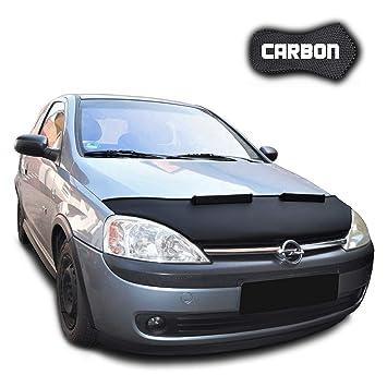 Protector de Capo para Corsa C CARBON Bra Protectores Capot Coche máscara Tuning NUEVO: Amazon.es: Coche y moto