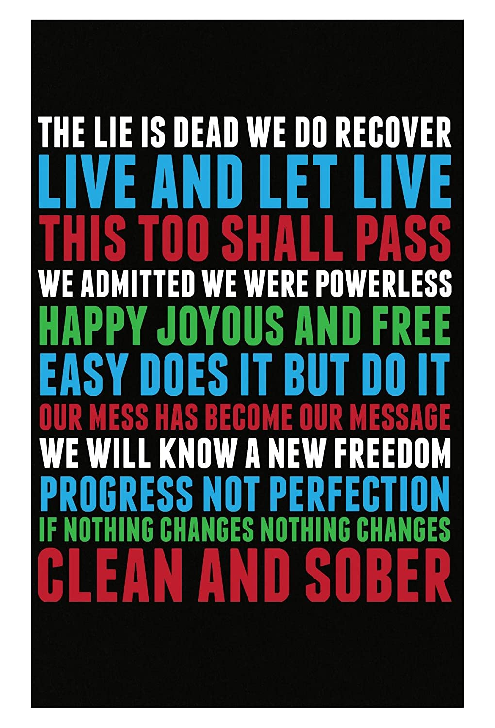 Amazon com: Gilded Frog Best Recovery Slogans - Poster