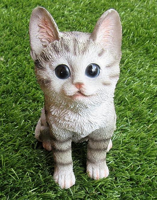 Gato Pequeño para decorar/Jardín/Decoración/Animales: Amazon.es: Jardín