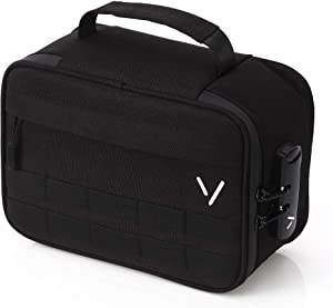 Large Vault Gear Smell Proof Case with Combination Lock – Premium Smell Proof Bags for Food, Medicine and Herbs – Durable and Sturdy Construction – Modular Compartments and Mesh Storage