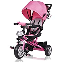 Deuba Coche Infantil Multiuso 2en1 Free Angel Rosa Cochecito y Triciclo Adaptable para bebés y niños
