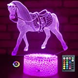 Menzee Horse Gifts for Girls,Horse Lamp Night Light for Kids Room Decor with Timer Remote Control & Smart Touch 7 Colors…