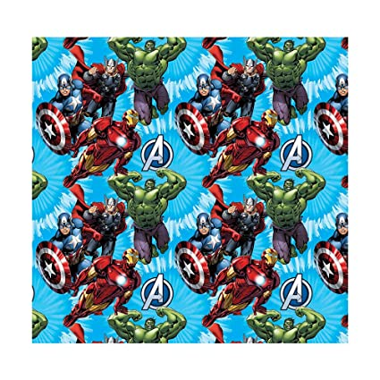 """Marvel """"The Avengers"""" Wrapping Paper 4 x Sheets /& 4 x Gift Tags Free P/&P"""