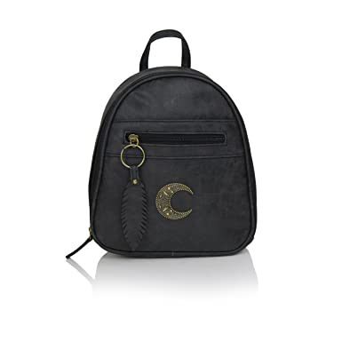 Amazon.com | Mini Distressed Faux Leather Backpack Purse, Small ...