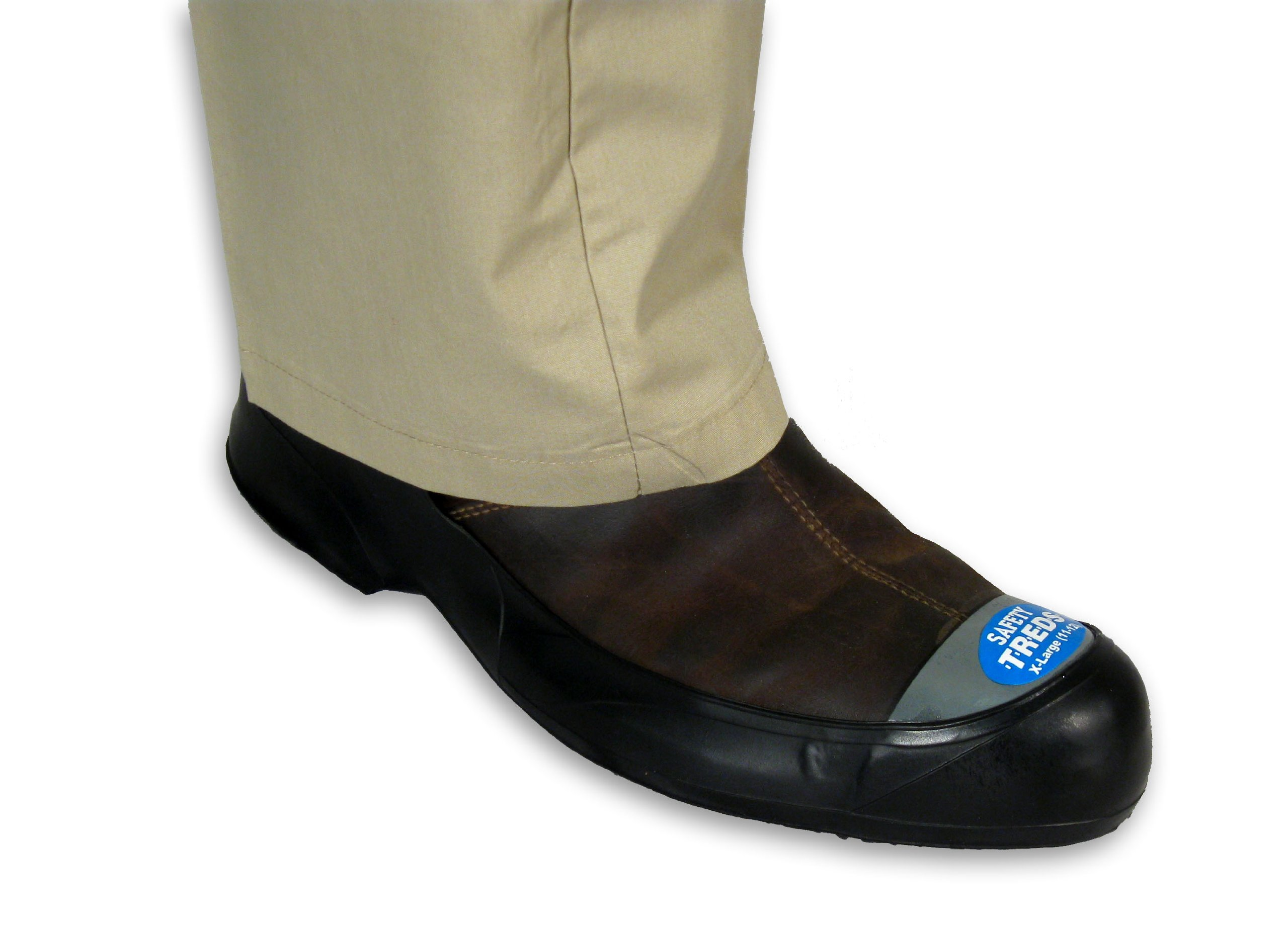 SAFETY TREDS 13432 Rubber Overshoes for Dress Shoes with Safety Toe, Large (One Pair)