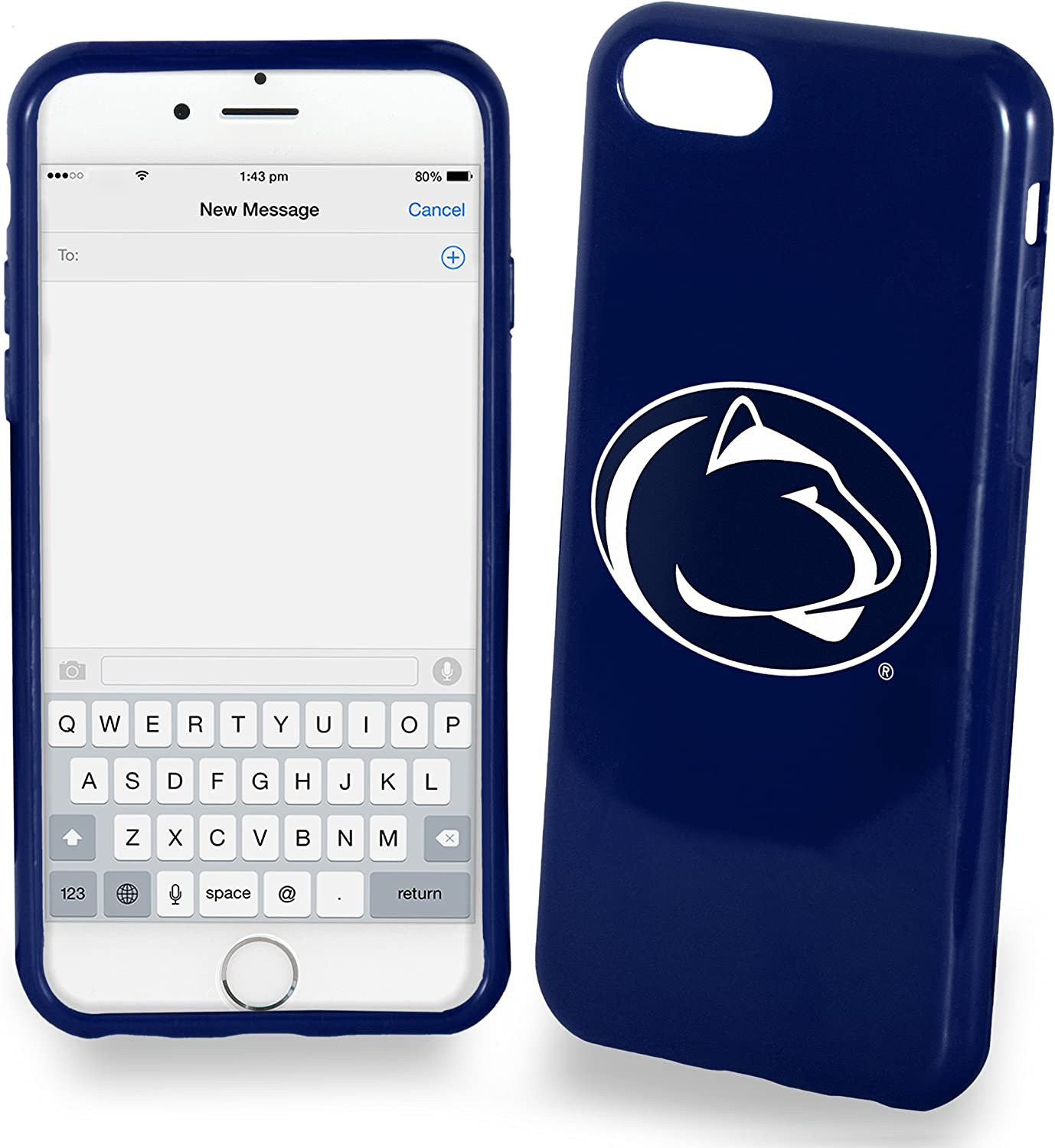 Plus 5.5 screen Only Cover FOCO Penn State Solid Ai7+//8 TPU