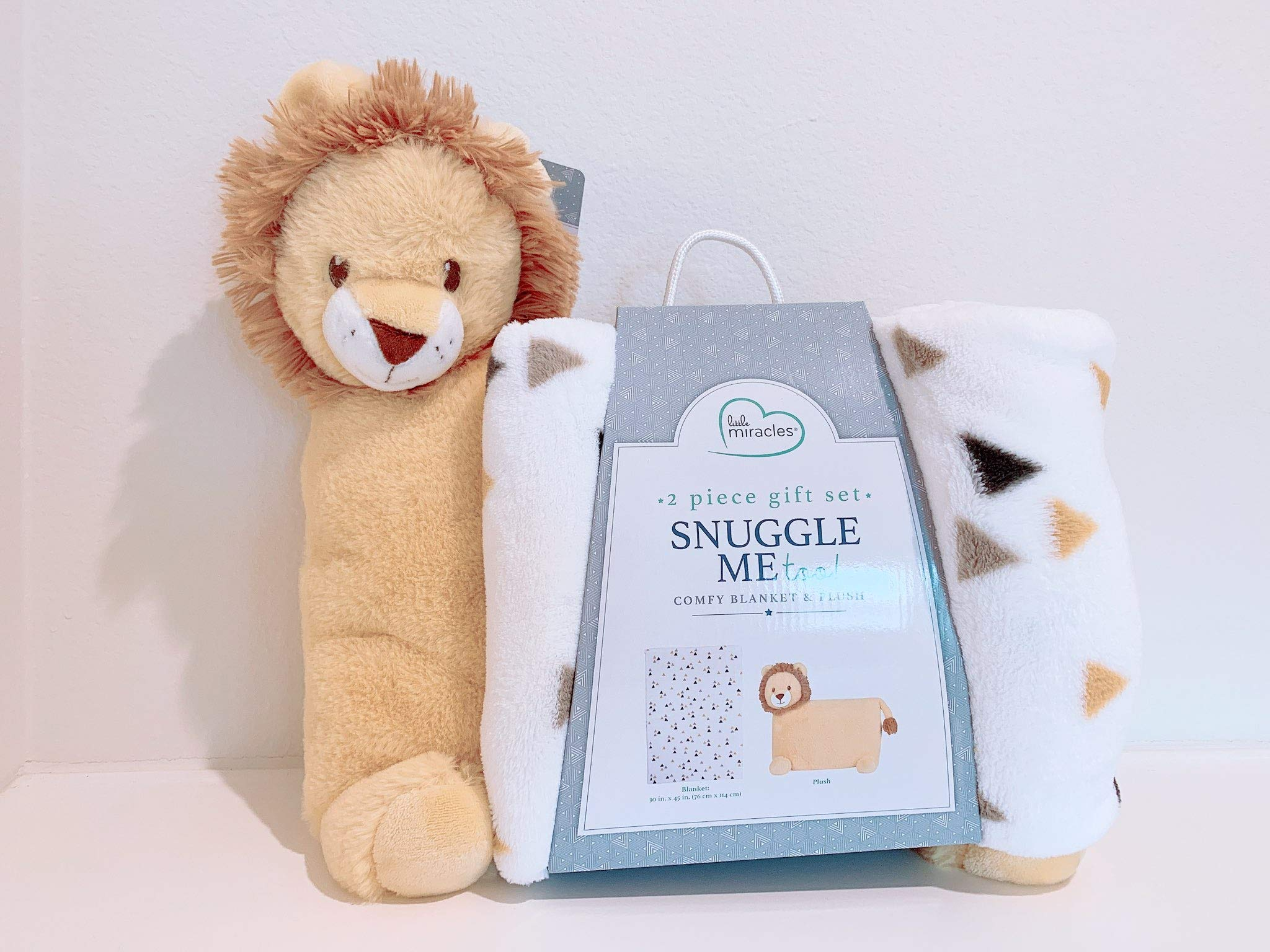 Little Miracles Snuggle Me Too! 2-Piece Comfy Blanket and Plush Gift Set - Lion