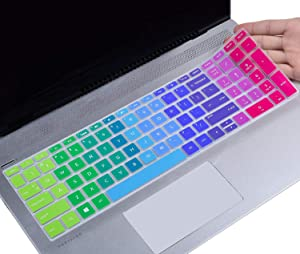 Colorful Keyboard Cover for 2019 HP Pavilion Newest 17 17.3 inch / 2019 HP Envy 17 17t 17m 17-ae 17-bs 17-bw 17-ar050wm 17-ae111dx 17-by1033dx 17m-bw0013dx, Rainbow