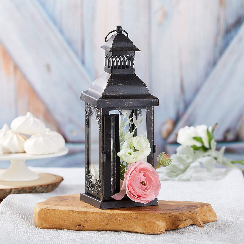 Kate Aspen Antique Black Decorative Small Lantern