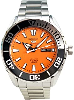 SEIKO 5 Sports 100m Automatic Orange Dial Watch SRPC55K1