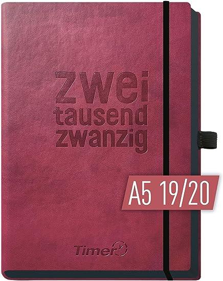 Taschenkalender 2020 Planer Timer Kalender 9,5 x 18 cm Hardcover neon grün