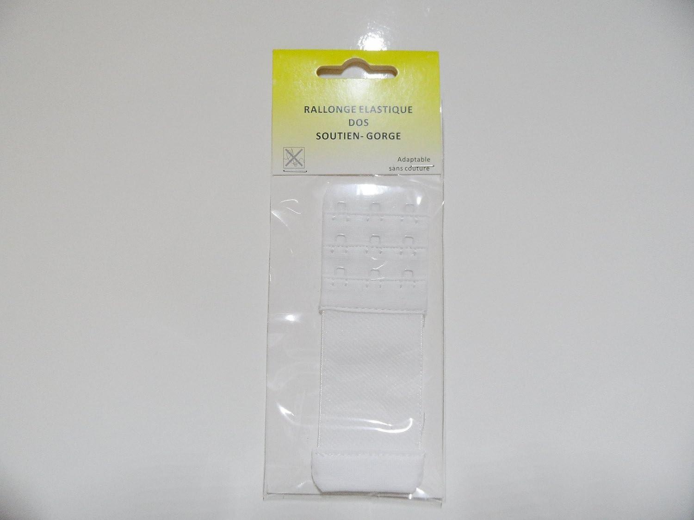 Merceries83 Rallonge /Élastique Soutien Gorge 3 Crochets 4 cm de Large 11 cm de Longueur Blanche Extension Prolongateur Flexible sans Couture Confortable Pratique pour Lingerie Bustiers sous-V/êtements
