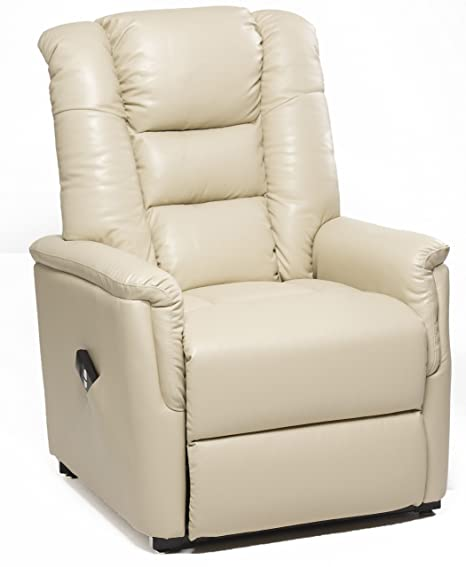 Incredible Gfa Bradfield Cream Single Motor Riser Recliner Chair In Faux Leather Rise Recline Creativecarmelina Interior Chair Design Creativecarmelinacom