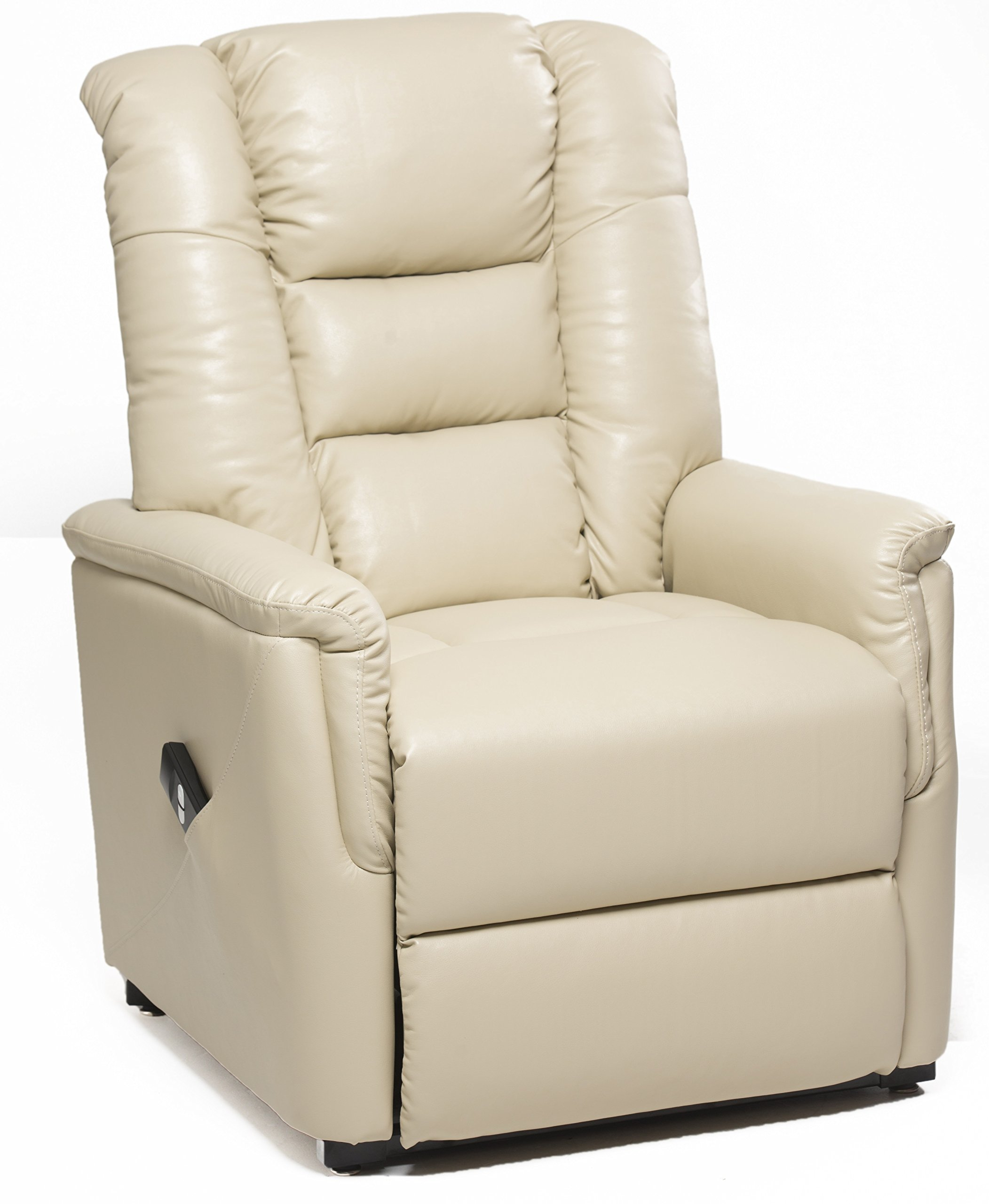 The Bradfield Riser Recliner Chair In Faux Leather (PU). Single Motor, Easy