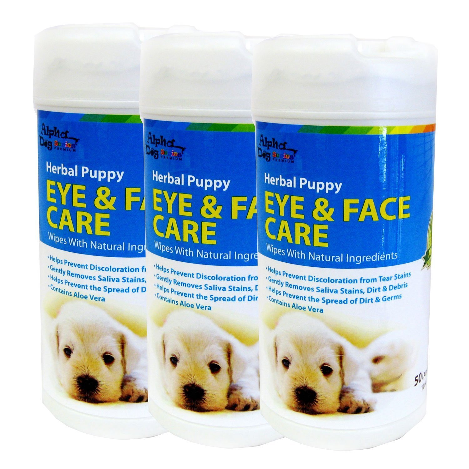 Alpha Dog Series Eye & Face Wipes (Pack of 3)