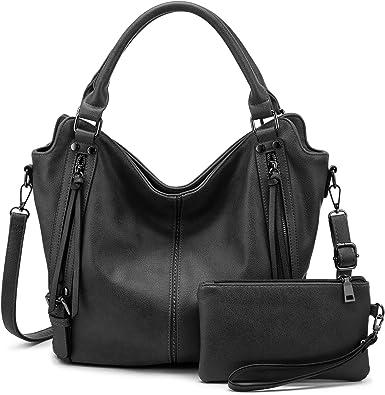 Women Shoulder Handbags Faux Leather Bag Tote Large Organizer Fashion Pouch SH