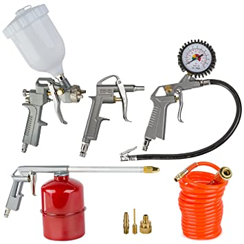 Oramics – Juego de 8 piezas para compresores de aire comprimido, herramientas de aire a