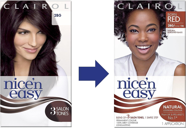 Clairol Nicen Easy Coloración Permanente, 126 Negro Borgoña