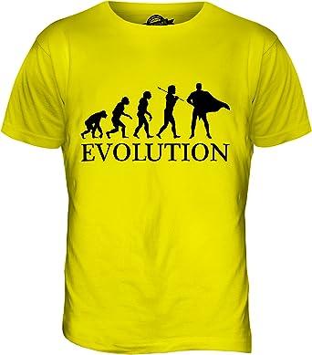 Superhéroe Evolution of Man - Camiseta Hombre Camiseta Top - algodón, Sorbete de Limón, 100% Ringspun 100% Machine 100% algodón, Hombre, XX-Grande: Amazon.es: Ropa y accesorios