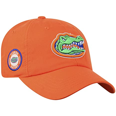 online store d069f 611da Amazon.com   Top of the World Florida Gators Official NCAA Adjustable  Orange Curved Bill Staple 4 Hat Cap 745282   Sports   Outdoors