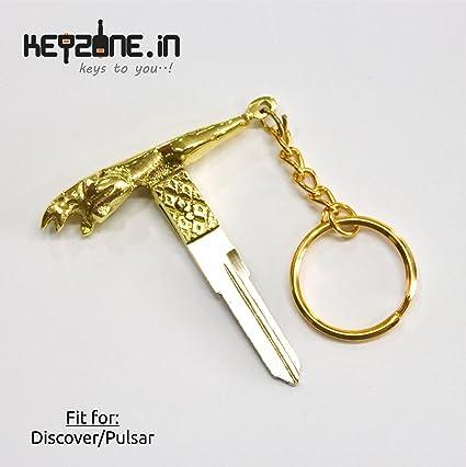 93504f44f22585 Keyzone Designer Brass Key Blank for Bajaj Pulsar/Discover (1): Amazon.in:  Car & Motorbike