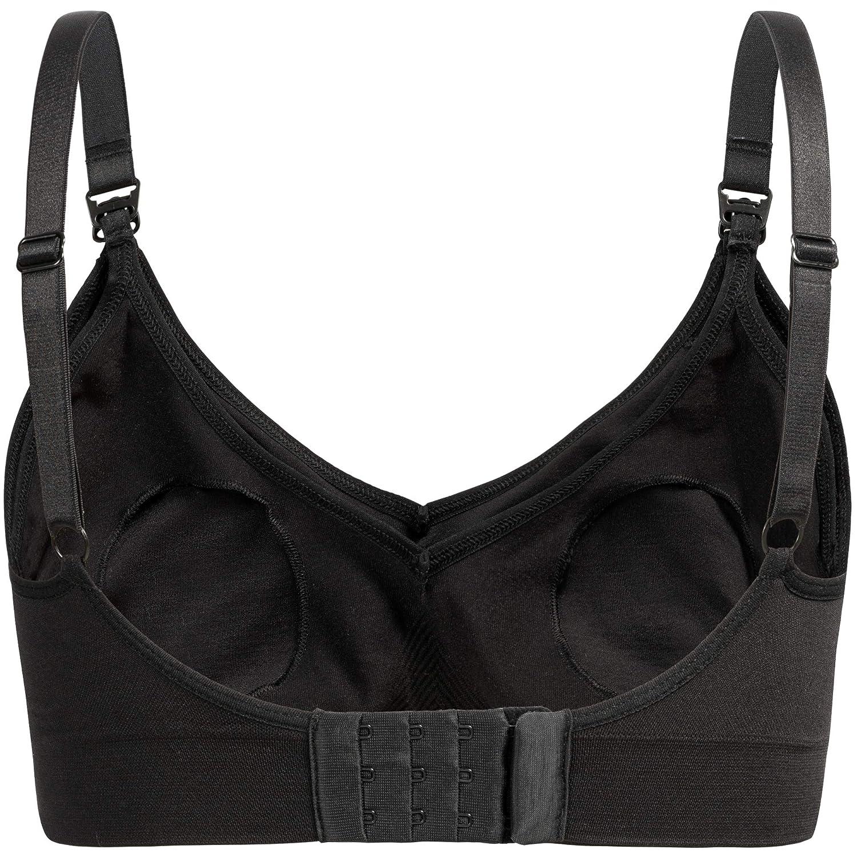 Non-Wired Bra for Women S//M, Black//Pack of 1 5200 Herzmutter Seamless Padded Pregnancy-Maternity-Nursing Bra