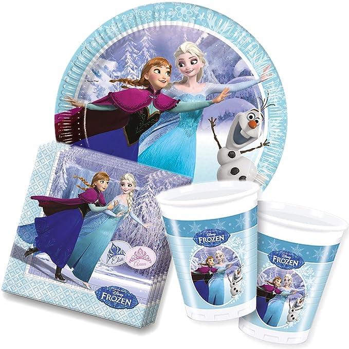 37 piezas Party * Frozen Ice Skating * con + vasos + ...