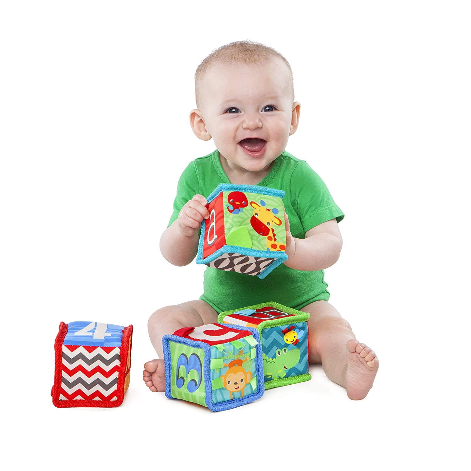 Amazon Bright Starts Grab and Stack Block Toy Baby